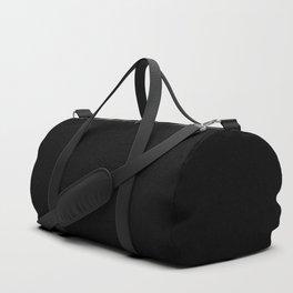 Black Minimalist Solid Color Block Duffle Bag