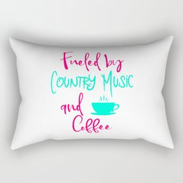 Fueled by Country Music and Coffee Singer Quote Rectangular Pillow