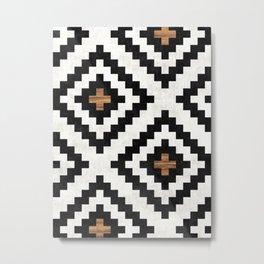 Urban Tribal Pattern No.16 - Aztec - Concrete and Wood Metal Print
