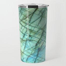 Teal Labradorite Gemstone print Travel Mug