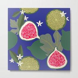 Fig & Lime Metal Print