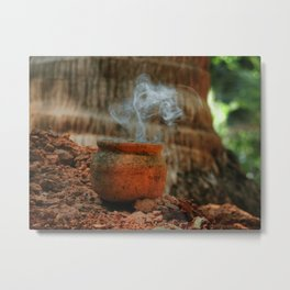 Smoke from a pot Metal Print