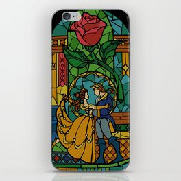 Beauty and The Beast - Stained Glass iPhone Skin