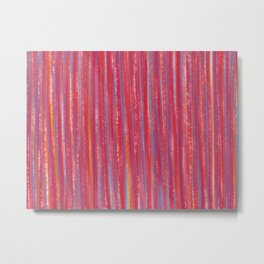 Stripes  - Candy pink red orange and blue Metal Print
