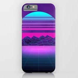 Future Sunset Vaporwave Aesthetic iPhone Case