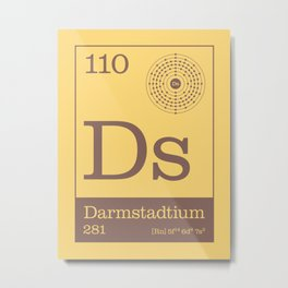 Periodic Elements - 110 Darmstadtium (Ds) Metal Print