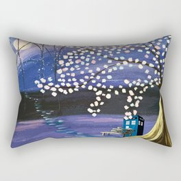 Tardis Art Alone And The Tree Blossom Rectangular Pillow