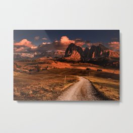 Autumn in Alpe di Siusi, Europe, Italy, South Tyrol Metal Print