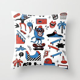 ROLLIN' Throw Pillow