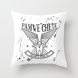 Selous Scouts Sprey B&W Throw Pillow