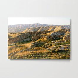 Mountains in the Red Valley of Cappadocia, Turkey Metal Print