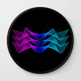 Gradient Lines Abstract 2 Wall Clock