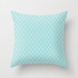 Quatrefoil Sea Kiss Throw Pillow