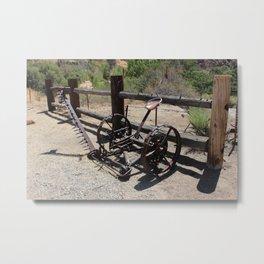 Old farm equipment Metal Print