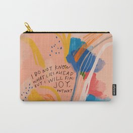 Find Joy. The Abstract Colorful Florals Carry-All Pouch