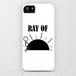 Ray Of Fucking Sunshine - Profanity - Sarcasm - Humor Humping Stickman iPhone Case