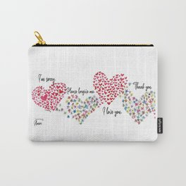 The Hearts and The Butterflies Carry-All Pouch