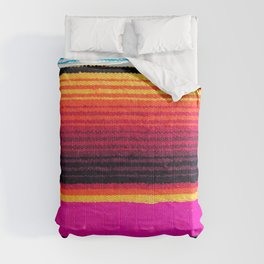 Magenta Sky Serape Comforters