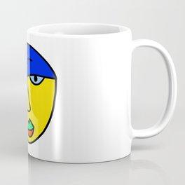 Colored Sad Man's Face Coffee Mug