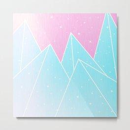 Sparkly Blue Crystals Design Metal Print