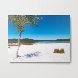Lake McKenzie on Frazer Island, Queensland, Australia Metal Print