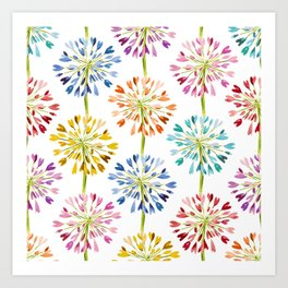 Heart Flower - colorful Art Print