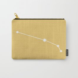 Aries Zodiac Constellation - Golden Yellow Carry-All Pouch
