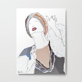 Patti LuPone - With One Look Metal Print