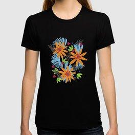 Fringe palm floral T-shirt