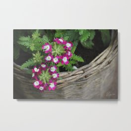 Flower Basket Metal Print
