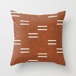 double dash - burnt orange Throw Pillow