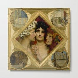 "Sir Lawrence Alma-Tadema ""The Three Graces"" Metal Print"