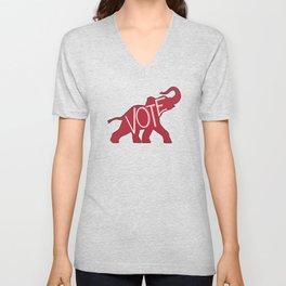 Vote Republican Party Red Elephant Unisex V-Neck