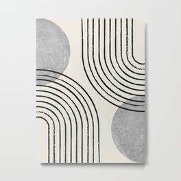 Sun Arch Double - Grey Metal Print