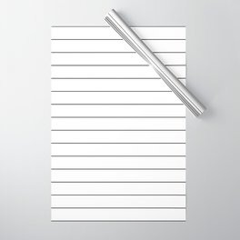 White And Black Pinstripe Line Stripe Minimalist Stripes Lines Wrapping Paper