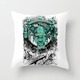 Horror Demon Scary Occult Monster Gothic Gift Throw Pillow