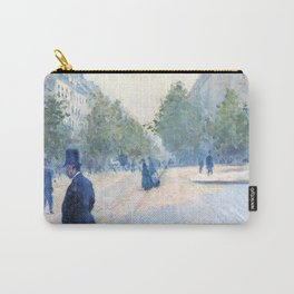 """Gustave Caillebotte """"Place Saint-Augustin, foggy weather"""" Carry-All Pouch"""