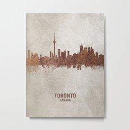 Toronto Canada Rust Skyline Metal Print
