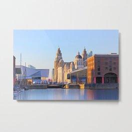 Albert Dock And the 3 Graces Metal Print