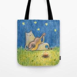 Campfire Cat Tote Bag