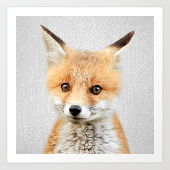 Baby Fox - Colorful by galdesign