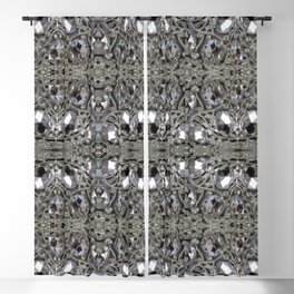 girly chic glitter sparkle rhinestone silver crystal Blackout Curtain