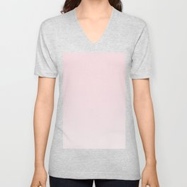 soft pink to white ombre Unisex V-Neck