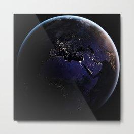 The Earth at Night 1 Metal Print