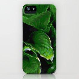 Green Hosta Leaves iPhone Case