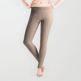 Pale Rose Pink Solid Color Pairs with Sherwin Williams Heart 2020 Forecast Color Likeable Sand SW605 Leggings