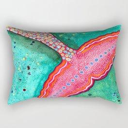 Watercolor Mermaid Tail Rectangular Pillow