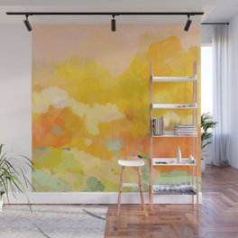 abstract spring sun Wall Mural