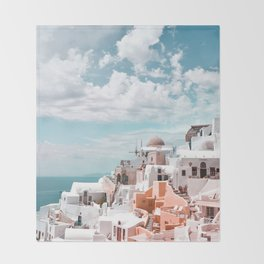 Santorini, Oia Throw Blanket