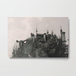 French Renaissance statue. Metal Print